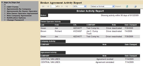 Broker Active Page